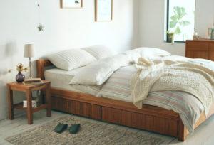 清潔な寝具
